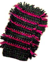 Striped Dusting Mitt Crochet Pattern