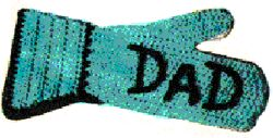 Dad's Barbecue Mitt Crochet Pattern