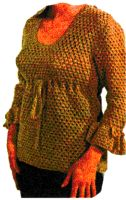 Empire Waist Blouse Crochet Pattern