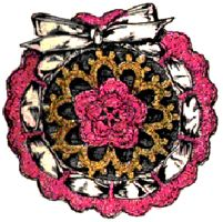 Satin Rose Sachet Crochet Pattern
