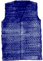 Shell Stripe Vest Crochet Pattern