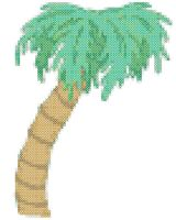 Palm Tree Cross Stitch Pattern